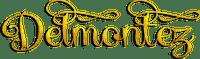soave text logo delmontez yellow