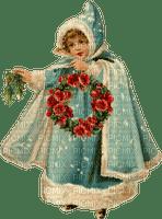 vintage girl winter snow christmas noel