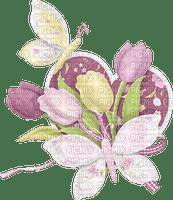Decoration de flores y mariposas