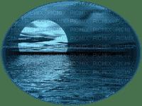 moon ocean night