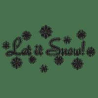 let it snow text