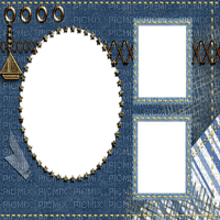 fond background blue jeans frame cadre tube effect