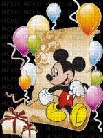 image encre bon anniversaire couleur balloons cadeaux effet  Mickey Disney edited by me