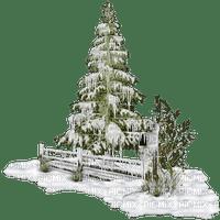 fir snow winter paysage deco neige