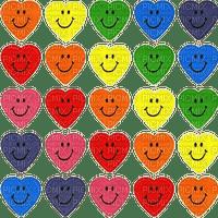 Rainbow smiley hearts