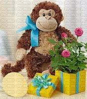 chimpanzé fleurs chimpanzee