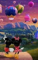 multicolore image encre montgolfière fantaisie ballon dirigeable arc de ciel Minnie Mickey Disney edited by me