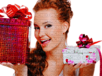 Redhead Woman With Gifts