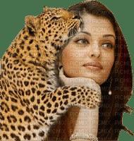 femme wpman and leopard