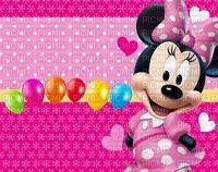 image encre bon anniversaire  effet  Minnie Disney edited by me