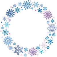 snowflake frame blue  circle winter cadre de flocon de neige cercle