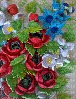 image encre fleurs couleur texture effet edited by me
