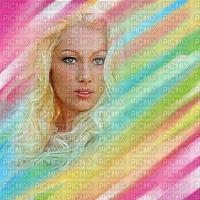 image encre couleur texture effet femme visage arc en ciel edited by me