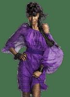 charmille _ femme en violet