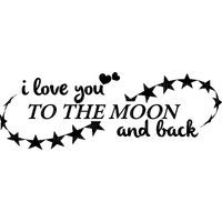 Kaz_Creations Logo Text I Love You To The Moon and Back