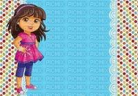 image encre couleur effet à pois anniversaire Dora  edited by me