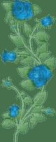 blue roses deco rose bleu