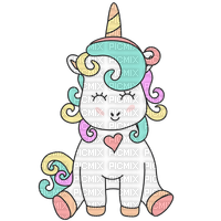 Adorable licorne cute colored unicorn