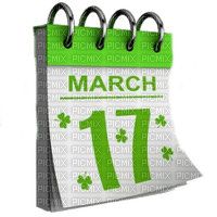 17.march st patrick day calendar