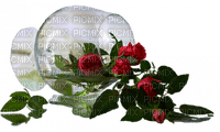 verre rouge rose deco glass red roses