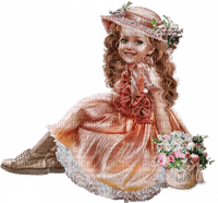 child girl enfant fillette flowers fleur