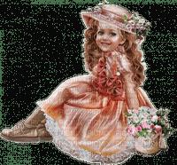 child girl enfant fillette flowers fleur