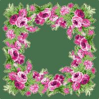 pink flower frame fleur cadre