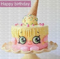 image encre gâteau pâtisserie bon anniversaire happy birthday shopkins edited by me