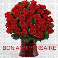 image encre bon anniversaire fleurs bouquet edited by me