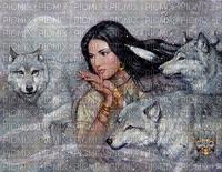 L'Indienne et les Loups