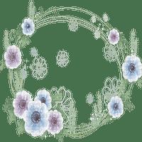 cadre cercle fleur frame flowers circle