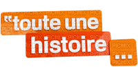 """toute une histoire"" Texte.Phrase.Orange.Victoriabea"
