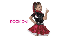 Kaz_Creations Child Girl Text Rock On Costume