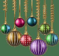 image encre couleur effet boules Noël  bonne année edited by me