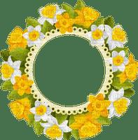spring frame flowers circle printemps cadre fleurs cercle