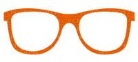 Lunettes.Eye Glasses.Lentes.anteojos.gafas.orange.Victoriabea