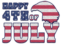 Kaz_Creations Logo Text Happy 4th Of July