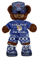 Kathleen Reynolds 4th July American USA Troops Bear
