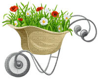 Kaz_Creations Flowers Flower Deco Wheelbarrow Garden