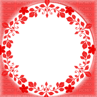 red circle frame with flowers