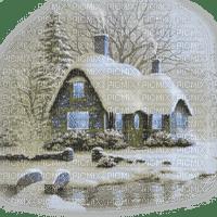 winter house landscape hiver maison paysage