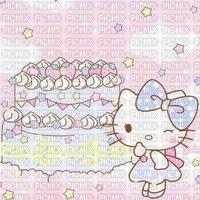 Gâteau fond hello kitty background cake