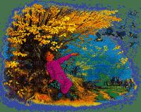 paysage,bird,bebe, déco ,gif ,animation ,de fleurs ,de papillon,village,house,fond,Pelageya