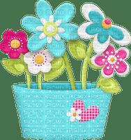 Pot de fleurs naïves