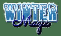 Winter magic.Text.Blue.Victoriabea