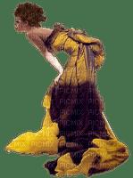 woman in yellow-purple