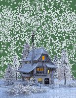 house winter hiver snow neige garden