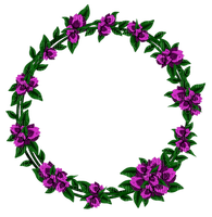 Kaz_Creations Deco Flowers Circle Frames Frame Colours