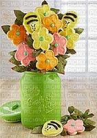 biscuits fleurs abeilles arrangement art