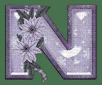 Kaz_Creations Alphabets Christmas Purple  Letter N
